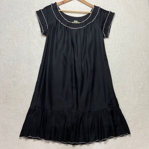Anthropologie Floreat Black Silk Dress 8 No Belt